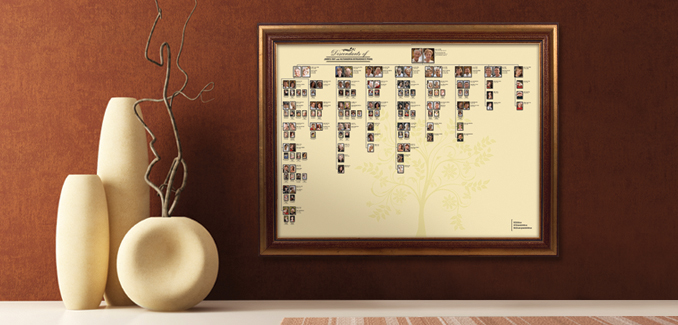 MyCanvas Descendant Genealogy Poster