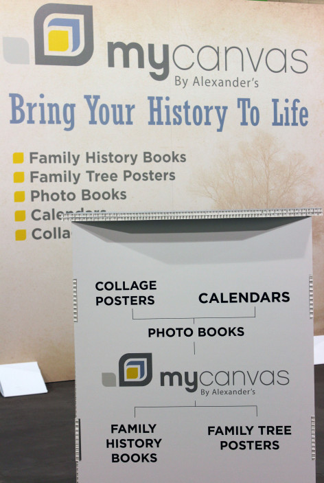 MyCanvas booth at RootsTech 2015