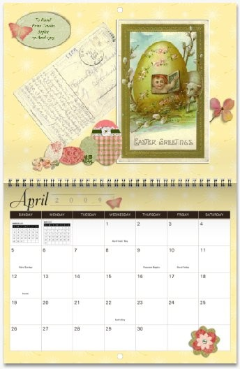 MyCanvas Postcard Heirloom Calendar