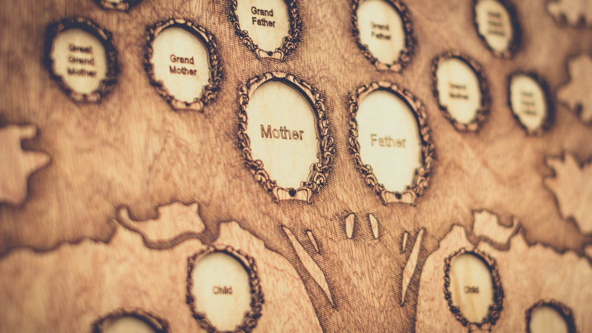 wooden family tree