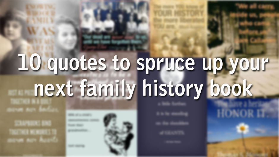 family history books