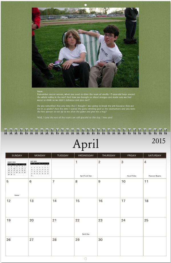 calendar bigger