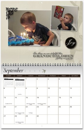 MyCanvas Creative Calendar Grandchildren