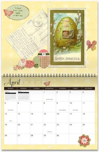 MyCanvas Postcard Heirloom Calendar