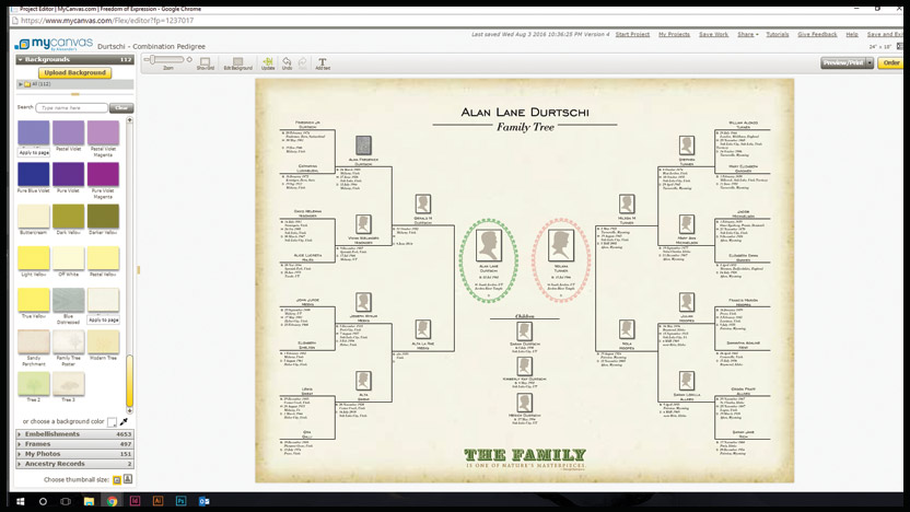 overview  types of mycanvas family tree posters