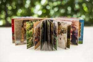 photo book standing open